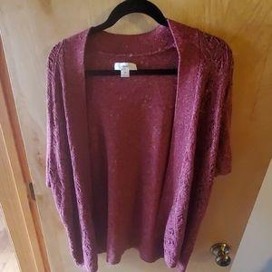 Mulberry Short Sleeve Cardigan Sweater